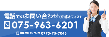 電話でのお問い合わせ 075-963-6201